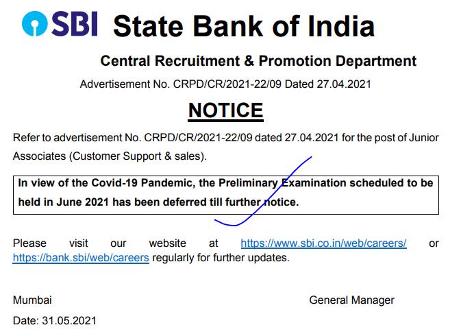 sbi-clerk-exam-date-postponed